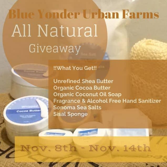 Blue Yonder Urban Farms Natural Spa Bag Giveaway | PreparednessMama