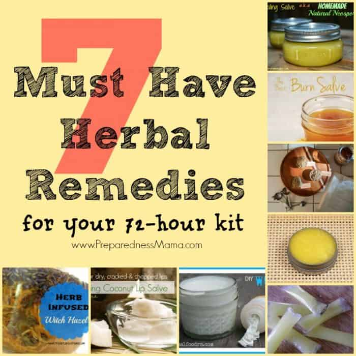7 Must Have Herbal Remedies for Your 72-Hour Kit