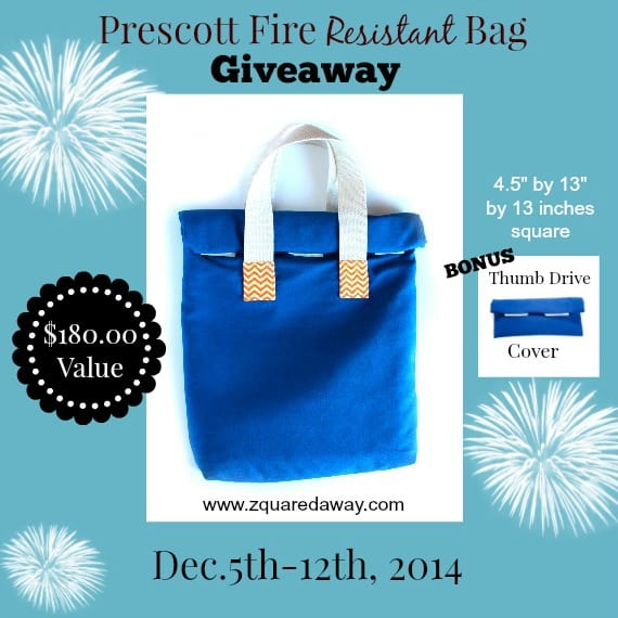 The Prescott Fire Resistant Bag  is one of the safest places to have your family keepsakes | PreparednessMama
