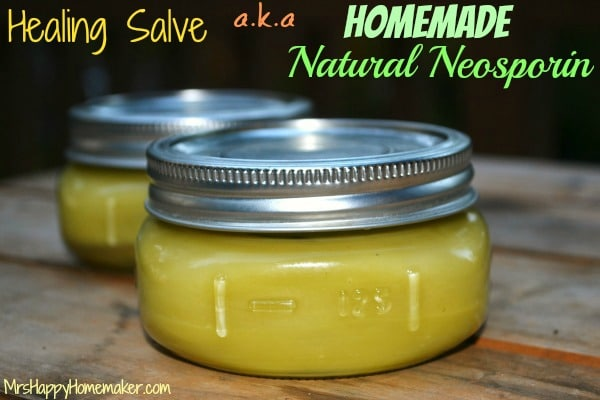 7 Natural Herbal Remedies for your 72-hour kit - Natural neosporin from Mrs. Happy Homemaker   PreparednessMama