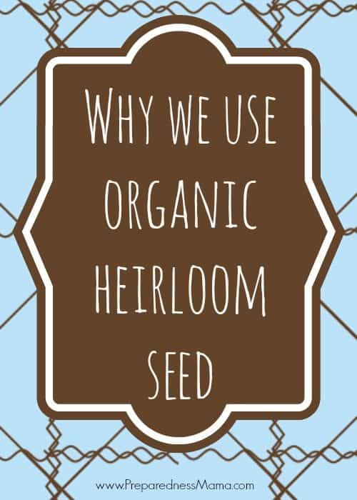 Why We Use Organic Heirloom Seeds