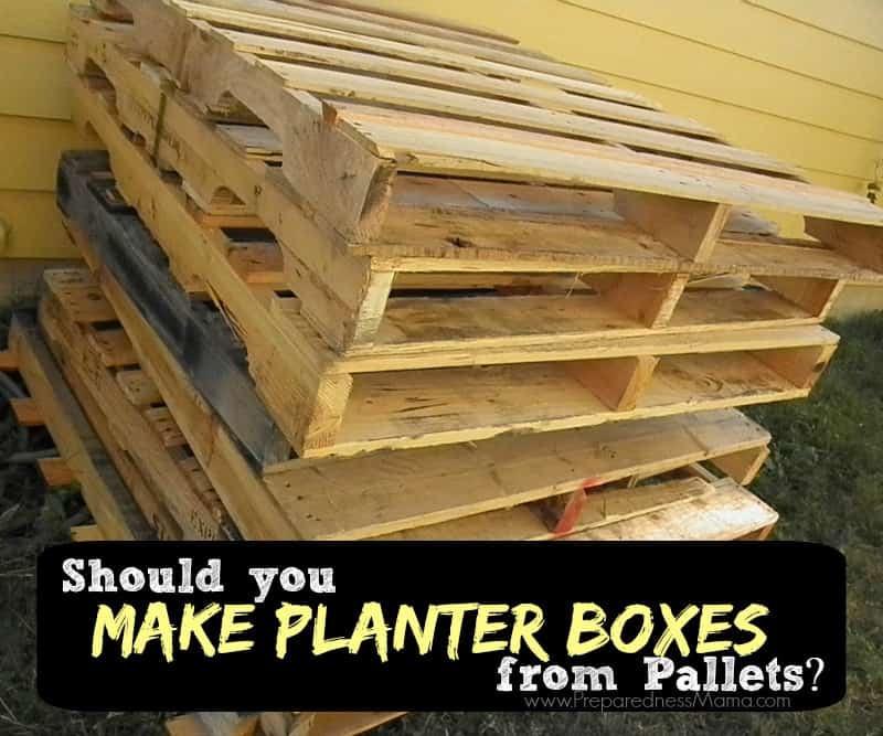 How to tell if a pallet is safe to use in the garden for How to make a flower box out of pallets