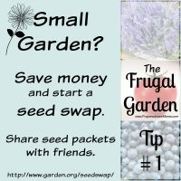 Frugal Gardening Tip #1: How much seed do you need? Start a seed exchange with friends to save money | PreparednessMama