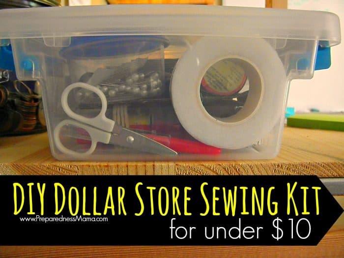 DIY Dollar Store Sewing Kit