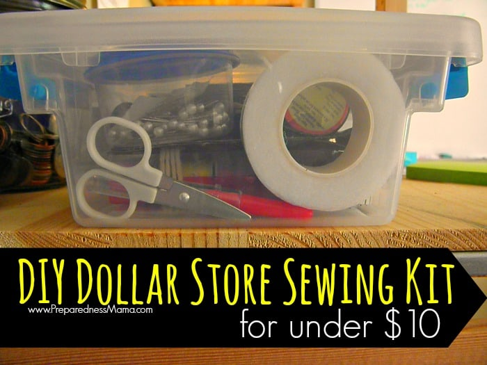 Make a DIY dollar store sewing kit for under $10 | PreparednessMama