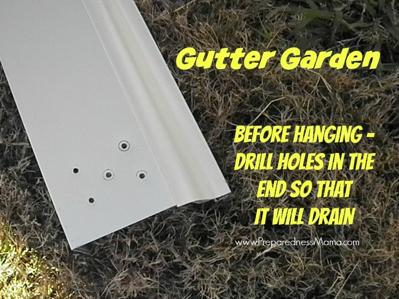Gutter Garden Design ideas. Drill holes in the ends for drainage | PreparednessMama
