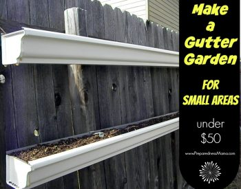 Gutter Garden Tips. Make one for Under $50 | PreparednessMama