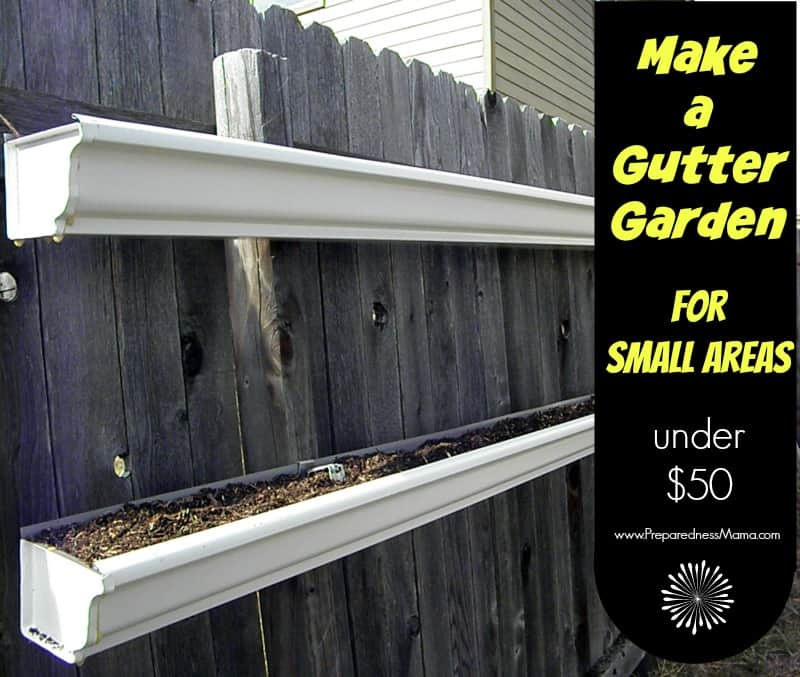 How to build a gutter garden preparednessmama for Rain gutter planter box