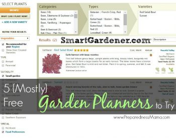 5 {Mostly} Free Vegetable Garden Planners to Try | PreprednessMama.com