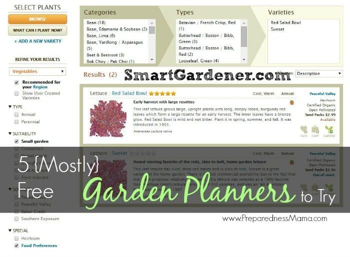 5 {Mostly} Free Online Vegetable Garden Planners