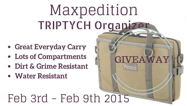 Maxpedition TRIPTYCH™ Organizer Giveaway