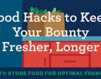 Food Hacks to Keep Food Fresh | PreparednessMama