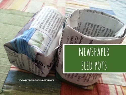 Newspaper Seed Pots | PreparednessMama