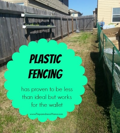 Plastic fencing and t-bars work to keep out animals | PreparednessMama