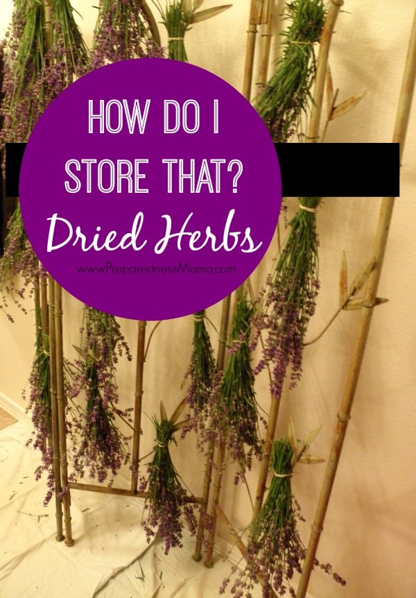 How to store herbs. Hang herbs to dry before storing | PreparednessMama