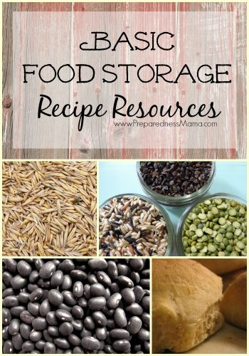 Basic Food Storage Recipe Resources from around the web | PreparednessMama
