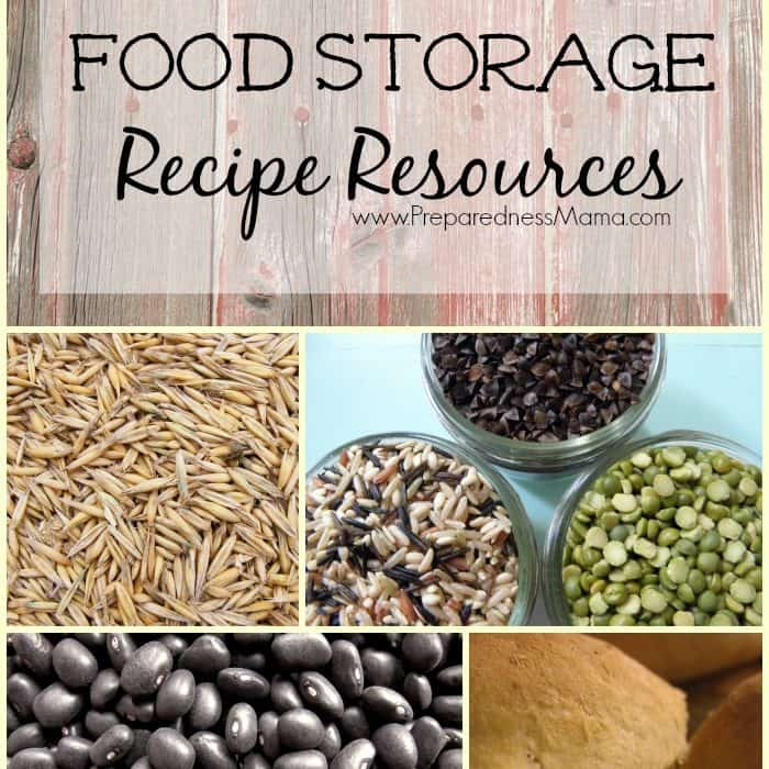 Basic Food Storage Recipe Resources