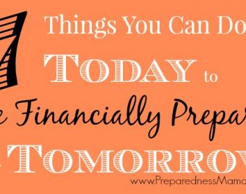 7 Things You Can Do Today to be Financially Prepared for Tomorrow | PreparednessMama