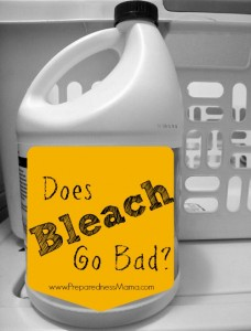 We think of bleach as a last for ever product, but does bleach go bad? | PreparednessMama