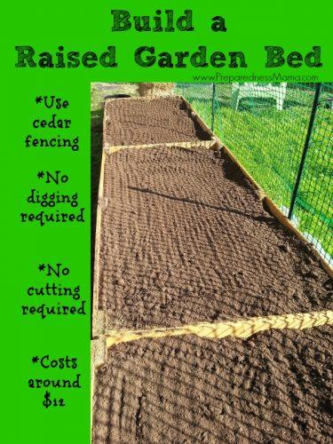 Build a raised garden bed for around $12 | PreparednessMama