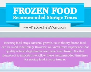 Frozen Food Storage Infographic | PreparednessMama