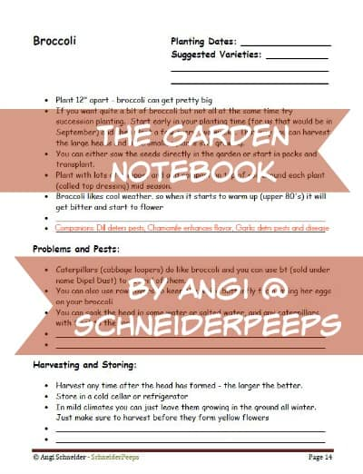 The Gardening Notebook | PreparednessMama