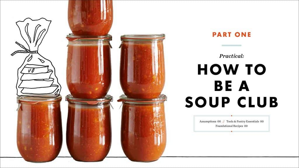 Get your friends to feed you once a week with the Soup Club Cookbook | PreparednessMama