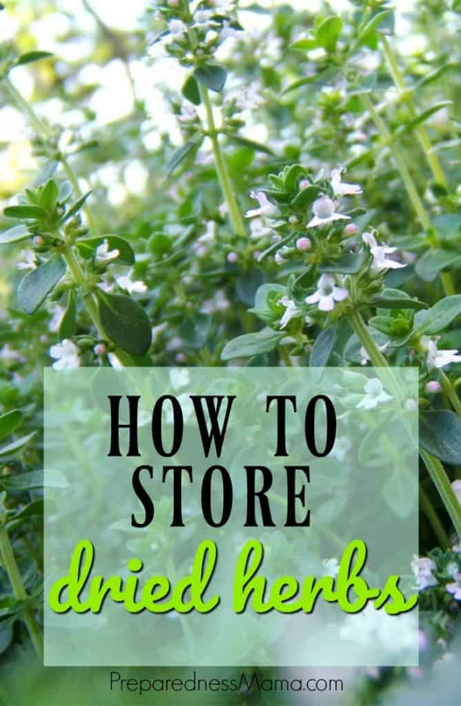 Drying and storing your herbs is a great way to save money. You can extend your harvest when you learn to store dried herbs for optimum flavor | PreparednessMama