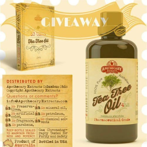 Apothecary Extracts Tea Tree Oil Giveaway | PreparednessMama