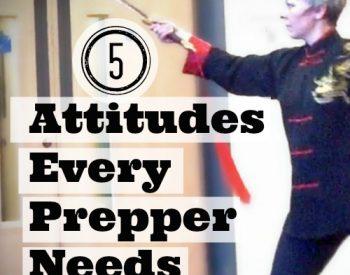 Are you ready to prepare? Put on your prepper attitude | PreparednessMama