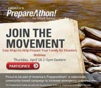 America's PrepareAThon Webinar April 16, 2015 2PM Eastern   PreparednessMama
