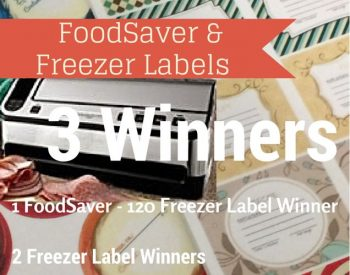 FoodSaver & Freezer Labels Giveaway | PreparednessMama