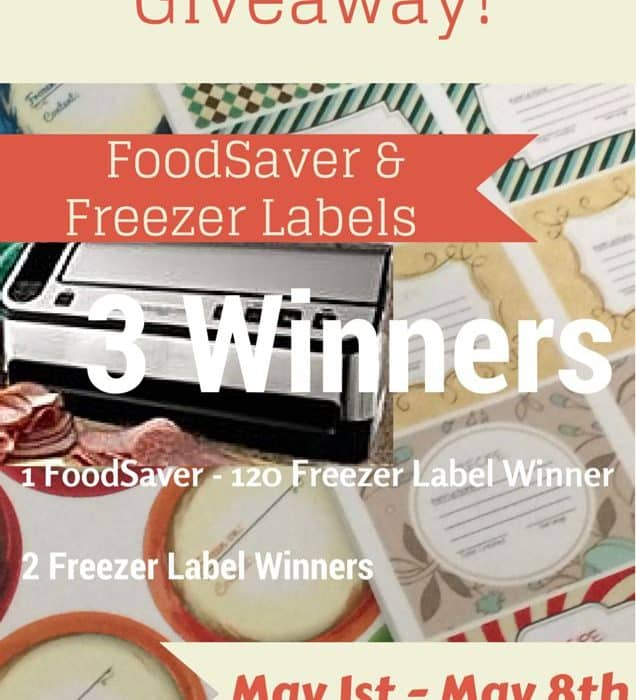 Freezer Label & FoodSaver Giveaway