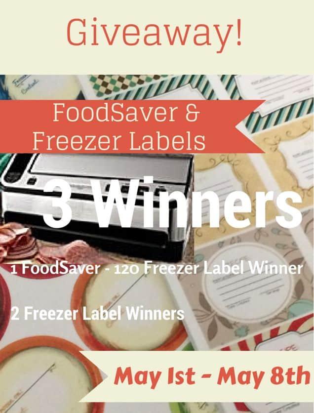 Freezer Label FoodSaver Giveaway | PreparednessMama
