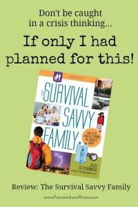 Review: The Survival Savvy Family by Julie Sczerbinski | PreparednessMama