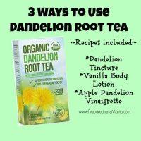 3 ways to use dandelion root tea (with recipes) | PreparednessMama