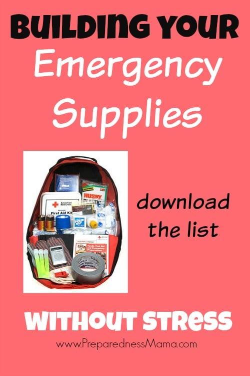 Download a master emergency supplies list to help get prepared. Emergency Supplies without the stress | PreparednessMama