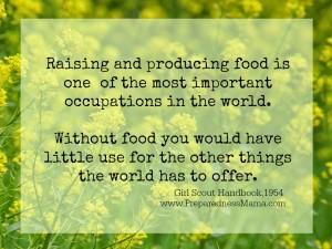 raising food