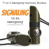 Signaling in an emergency with the 7-in-1 emergency whistle | PreparednessMama