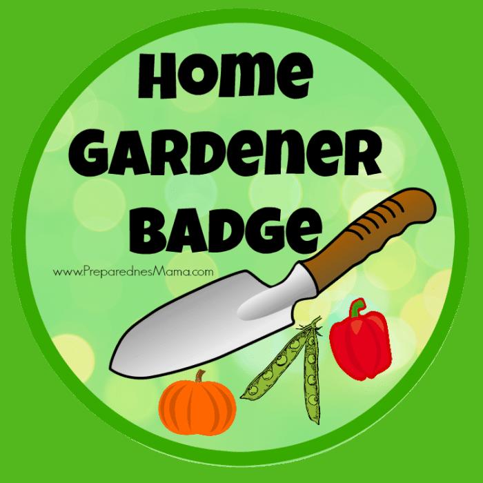 Home Gardener Badge