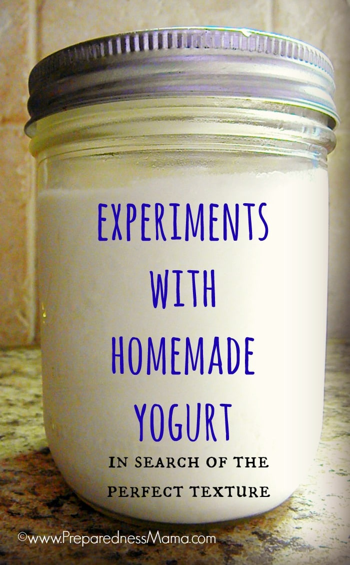 Experiments with Homemade Yogurt - In quest of the perfect batch | PreparednessMama