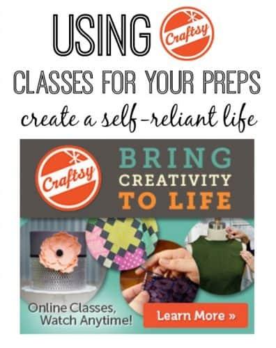 Using Craftsy Classes for Preps: Create a self-reliant life | PreparednessMama