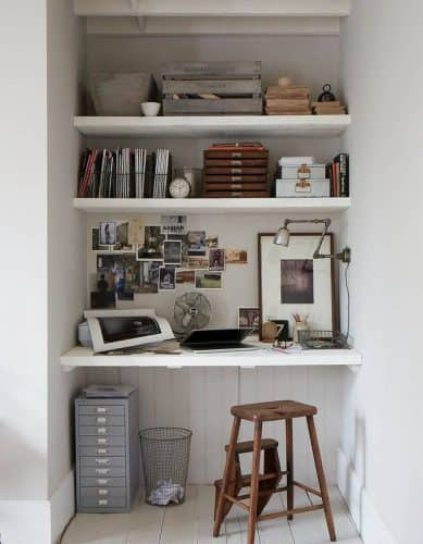 office nook in hallway