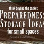 Preparedness Storage Ideas for Small Spaces