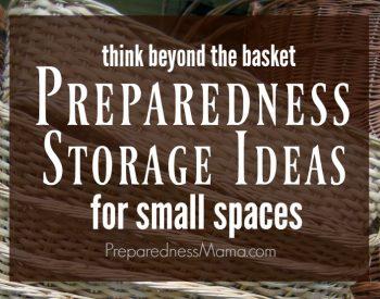 Preparedness storage ideas for small spaces. Think outside the basket | PreparednessMama