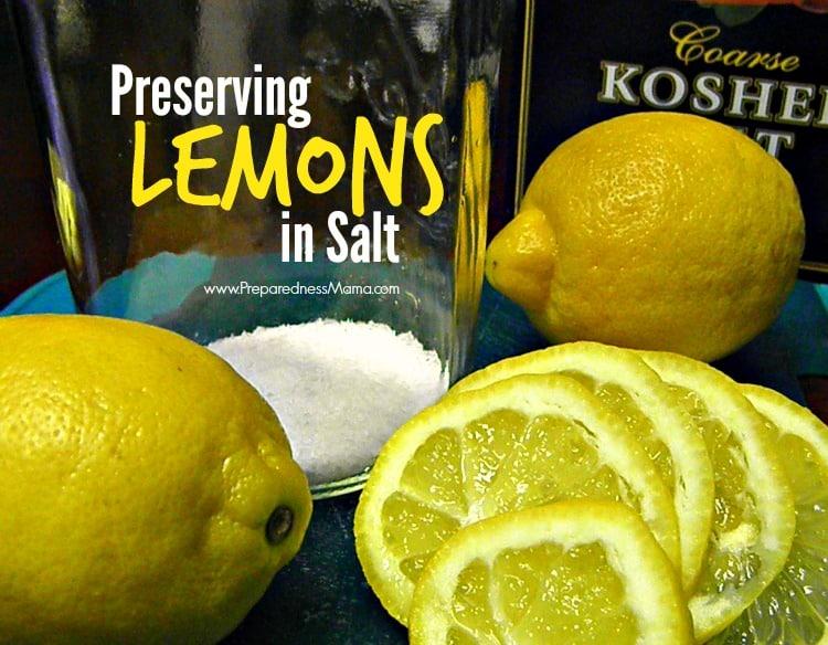 Preserving lemon in salt | PreparednessMama