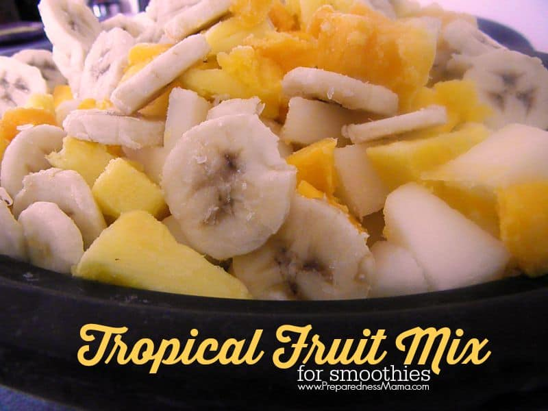 I make my own tropical fruit mix for smoothies. It ends up costing $1 per pound | PreparednessMama