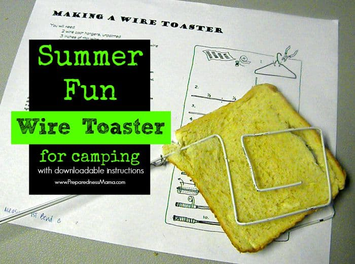 Here's a fun summer project to do with the kids. Make a DIY  Wire Toaster for around the campfire. Even small kids can cook a simple meal | PreparednessMama