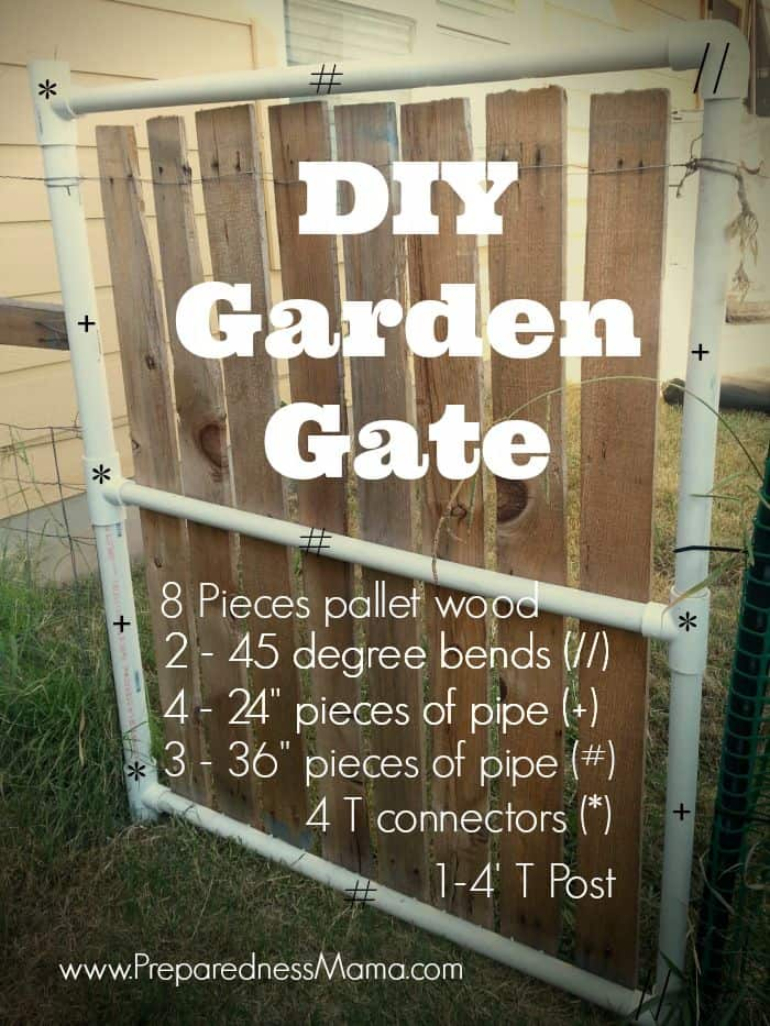 Make this DIY Garden Gate for about $20 | PreparednessMama