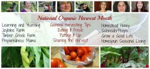 #OrganicHarvest15 National Organic Harvest 2015 | PreparednessMama